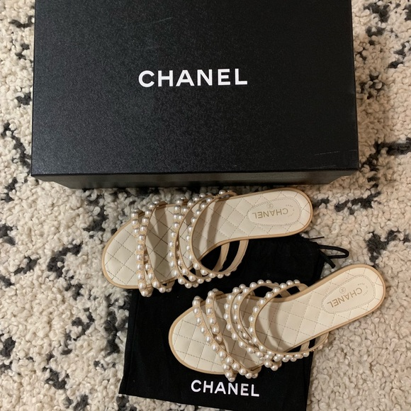 CHANEL Shoes | Chanel Pearl Mules